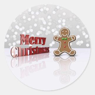 Glamour Gingerbread Christmas Man - Sticker