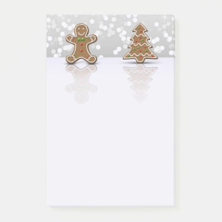 Glamour Gingerbread Man and Tree - Post-it® Notes
