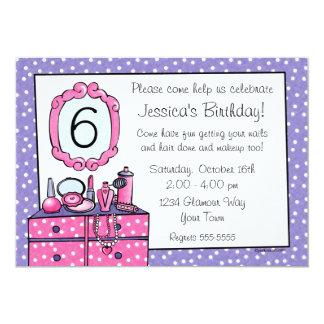 Glamour Girl Birthday Party Invitation