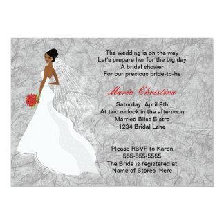 Glamour Girl Bridal Shower Invitation 1