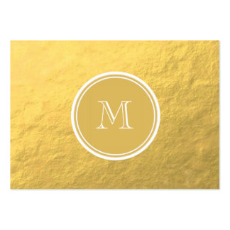 Glamour Gold Foil Background Monogram Pack Of Chubby Business Cards