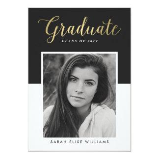 Glamour Graduation Invitations   Gold