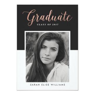 Glamour Graduation Invitations   Rose Gold