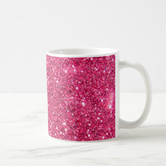 Glamour Hot Pink Glitter Coffee Mug