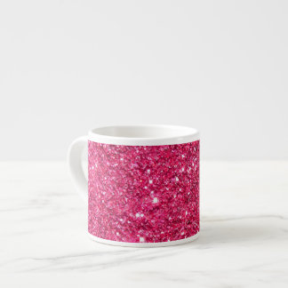 Glamour Hot Pink Glitter Espresso Mug