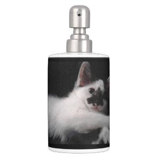 Glamour Kitty Soap Dispenser And Toothbrush Holder