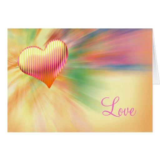 Glamour Loving Heart - Card