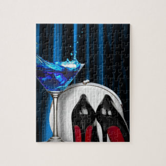 glamour martini cocktail party girl stilletos jigsaw puzzle