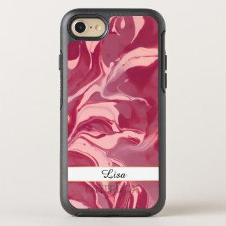 Glamour Red Velvet Marble OtterBox Symmetry iPhone 8/7 Case