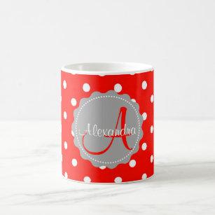 Red Polka Dots Coffee & Travel Mugs | Zazzle AU