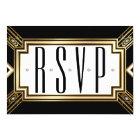Glamourous Art Deco Geometric Wedding RSVP Card