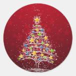 Glamourous Christmas Round Sticker