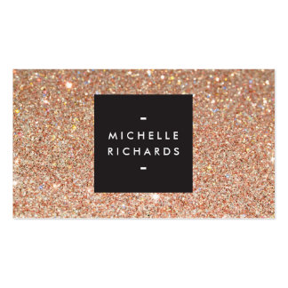 Glamourous Copper Glitter Modern Beauty Pack Of Standard Business Cards