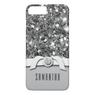Glamourous Diamond And Silver Glitter Confetti iPhone 7 Plus Case