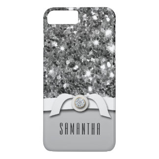 Glamourous Diamond And Silver Glitter Confetti iPhone 8 Plus/7 Plus Case