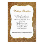 Glamourous Gold Glitter Look Wedding Enclosure