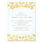 Glamourous Gold Wedding Invitation