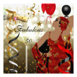 Glamourous Lady Fabulous 50 Fifty Birthday Party Personalised Invitations