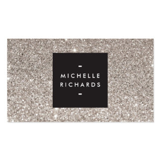 Glamourous Silver Glitter Modern Beauty Pack Of Standard Business Cards