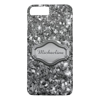 Glamourous Simulated Silver Sparkly Glitter Case