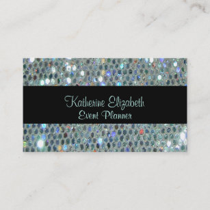 Bling business cards zazzle au glamourous sparkly glittery glitzy silver bling business card colourmoves