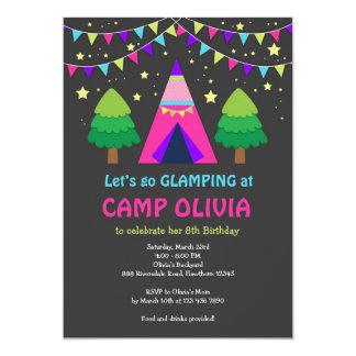 Glamping Birthday Invitation / Glamping Invitation