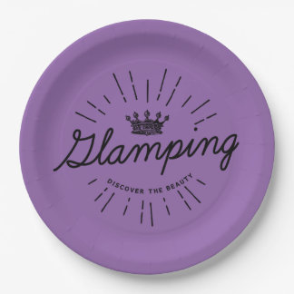 Glamping Camp Party 9 Inch Paper Plate