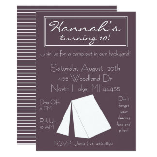 Glamping Campout Birthday Invitation