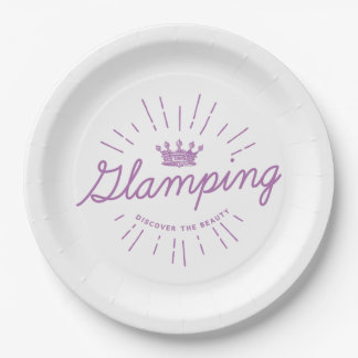 Glamping Queen 9 Inch Paper Plate