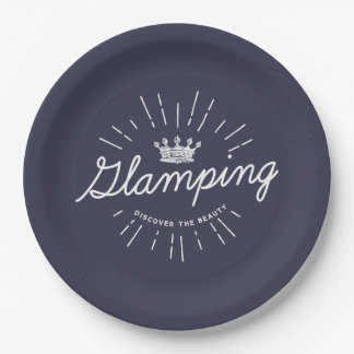 Glamping Queen Dark Color Paper Plate