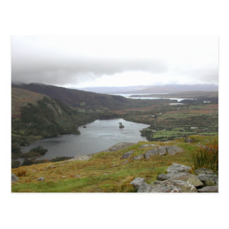 Glanmore Lake from Healy Pass Ireland. Postcard