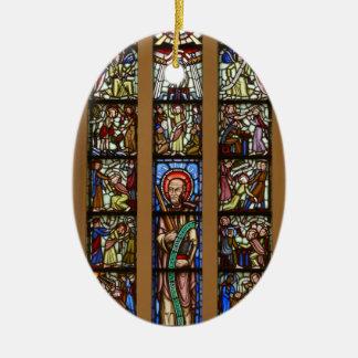 Glas-mosaik church ceramic oval decoration