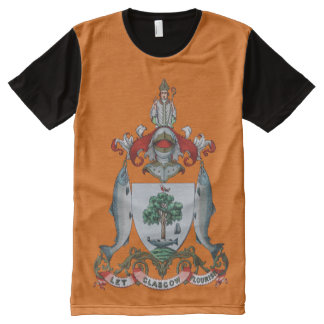 Glasgow Coat of Arms All-Over Print T-Shirt