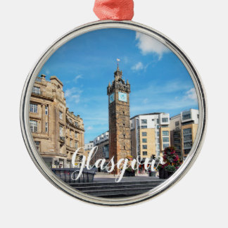 Glasgow  Customise Product Metal Ornament