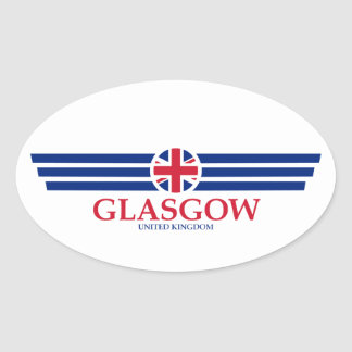 Glasgow Oval Sticker