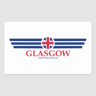 Glasgow Rectangular Sticker