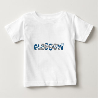 Glasgow Scotland Scottish Flag Colors Typography Baby T-Shirt
