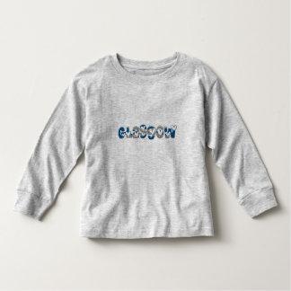 Glasgow Scotland Scottish Flag Colors Typography Toddler T-Shirt