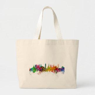 Glasgow Scotland Skyline Tote Bags