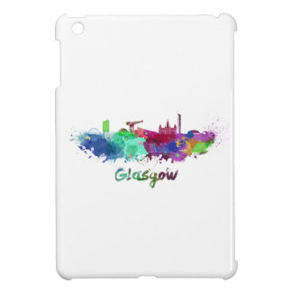 Glasgow skyline in watercolor iPad mini covers