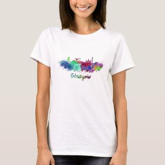 Glasgow skyline in watercolor T-Shirt