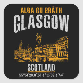 Glasgow Square Sticker