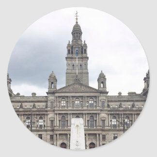 Glasgow Town Hall Classic Round Sticker