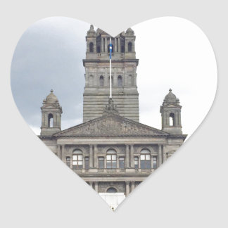 Glasgow Town Hall Heart Sticker