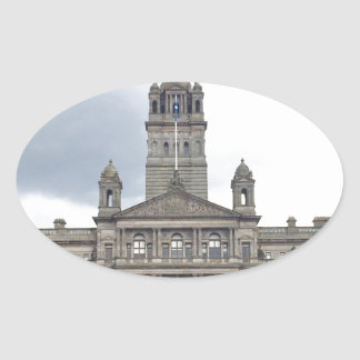 Glasgow Town Hall Oval Sticker
