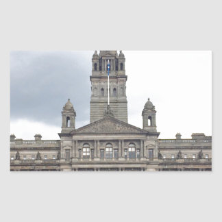 Glasgow Town Hall Rectangular Sticker