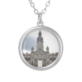 Glasgow Town Hall Silver Plated Necklace