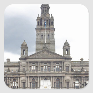 Glasgow Town Hall Square Sticker
