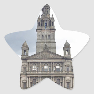 Glasgow Town Hall Star Sticker