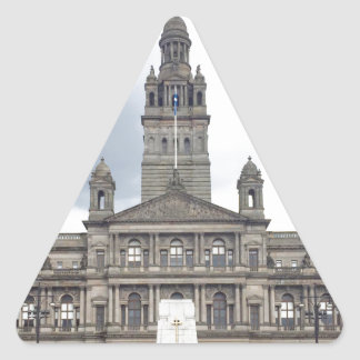 Glasgow Town Hall Triangle Sticker